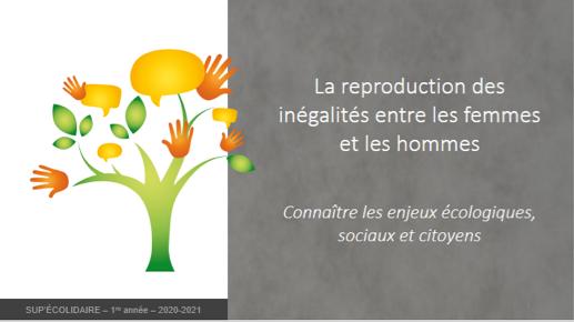 La reproduction des inégalités entre les femmes et les hommes au programme de SUP'ÉCOLIDAIRE